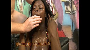 GF - Ebony Teen Rides Reverse Cowgirl, Her White Panties To The Side - BCWD