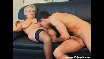 Hot milf mom helps stepson with his boner