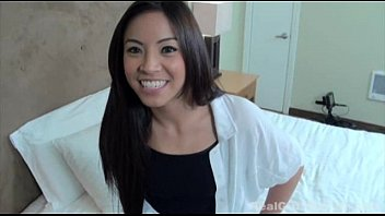 FIT18 - Clara Trinity - Flexible 90lb Asian Former Cheerleader Does Casting In Yoga Pants